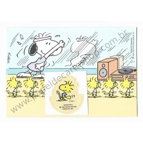 Postalete ANTIGO COM SELINHO PARA COLAR Snoopy Jazz