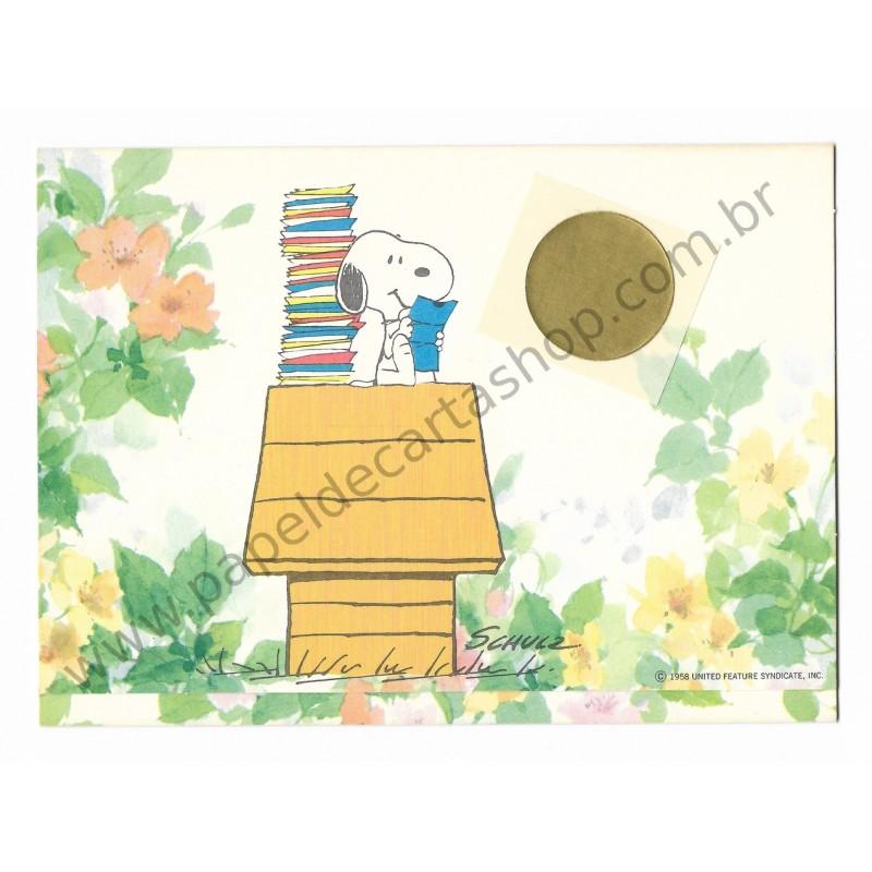 Postalete ANTIGO IMPORTADO COM SELINHO PARA COLAR Snoopy in the Garden Hmk