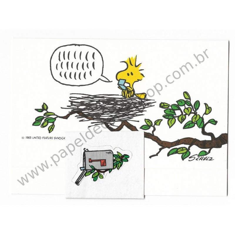Postalete ANTIGO IMPORTADO COM SELINHO PARA COLAR Woodstock Nest Hmk