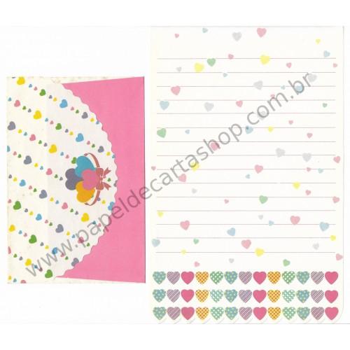 Conjunto de Papel de Carta Antigo Heart Line (BR)