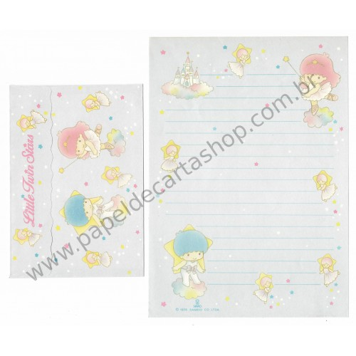 Conjunto de Papel de Carta Antigo Little Twin Stars (AZ) - Soft Paper