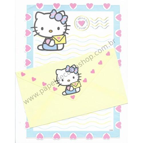 Conjunto de Papel de Carta Hello Kitty (AM/AZ) Sanrio - GRAFONS