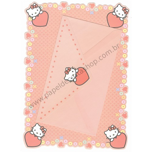 Conjunto de Papel de Carta Hello Kitty (LA) Sanrio - GRAFONS