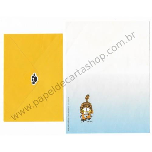 Anos 80. Conjunto de Papel de Carta Garfield N.50001-3
