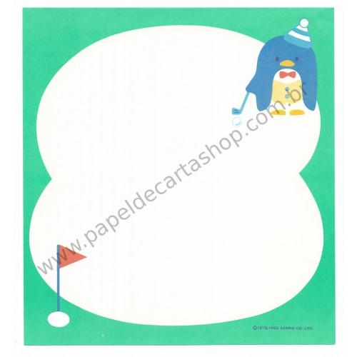 Ano 1983. Conjunto de Papel de Carta Tuxedosam Golf DUPLA Antigo (Vintage) Sanrio