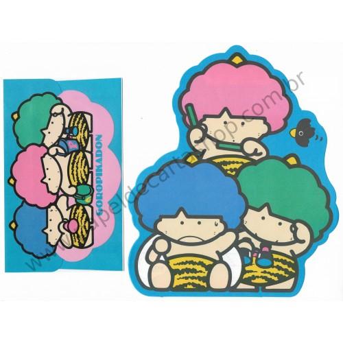 Ano 1984. Conjunto de Papel de Carta Goropikadon Vintage Sanrio