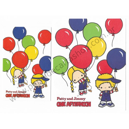 Ano 2008. Conjunto de Papel de Carta Patty & Jimmy One Afternoon Sanrio