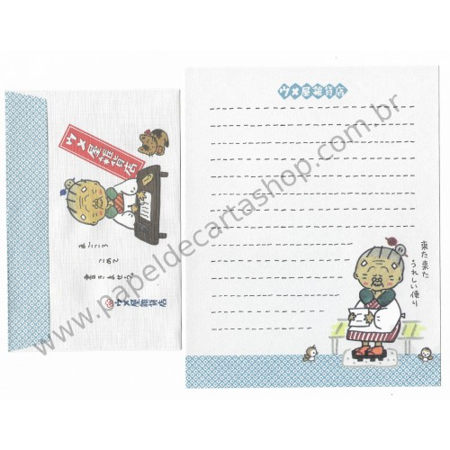 Ano 1989. Conjunto de Papel de Carta Umeya Zakkaten AZ Antigo (Vintage) Sanrio