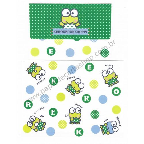 Ano 2012. Conjunto de Papel de Carta Keroppi Fun Sanrio