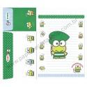 Ano 2011. Conjunto de Papel de Carta Keroppi Steps Sanrio