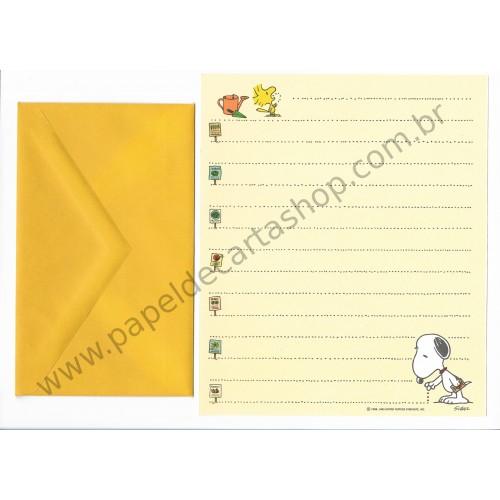 Conjunto de Papel de Carta Antigo Importado SNOOPY M12