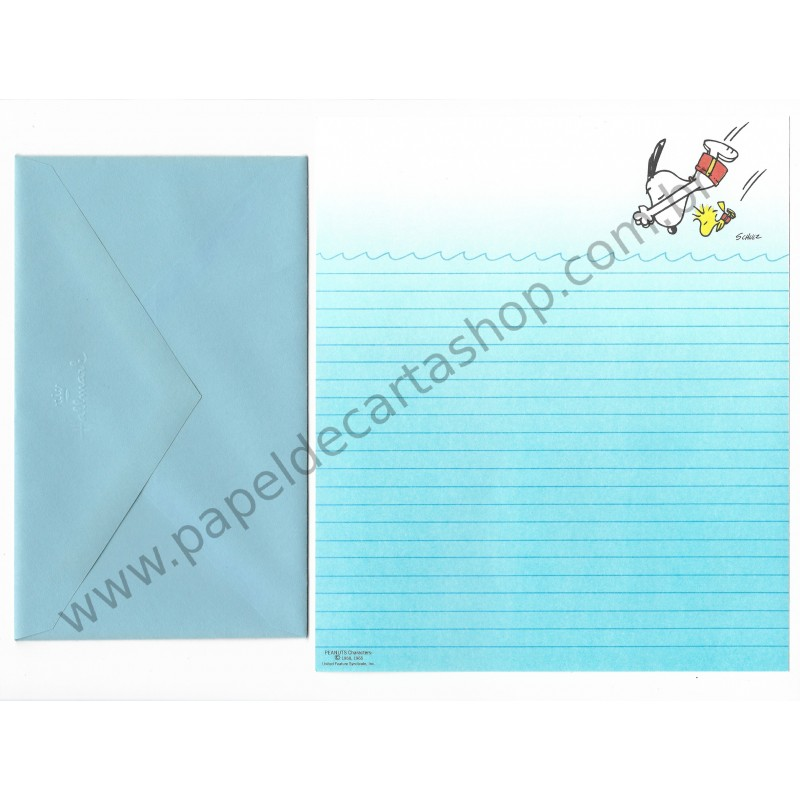 Conjunto de Papel de Carta Antigo Importado SNOOPY M33