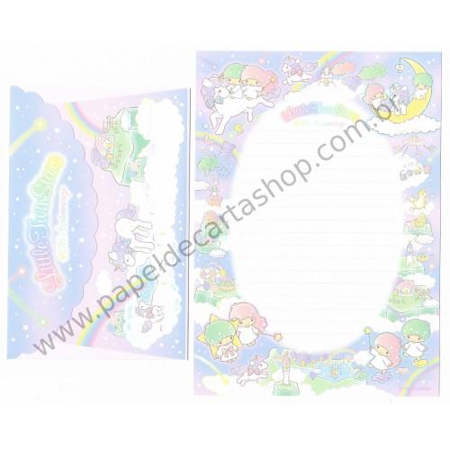 Ano 2015. Conjunto de Papel de Carta Little Twin Stars 40th Anniversary Sanrio