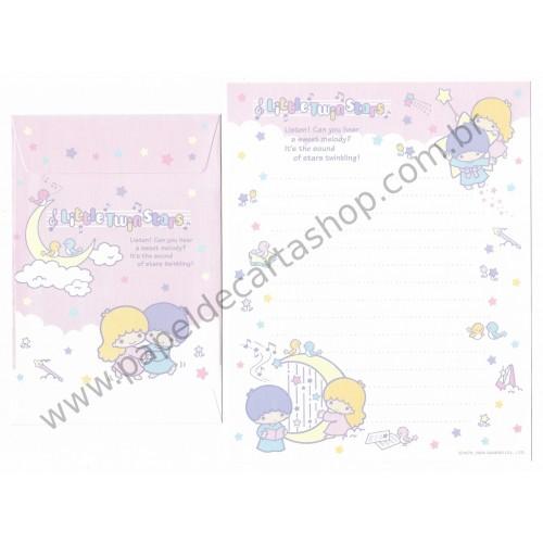 Ano 2005. Conjunto de Papel de Carta Little Twin Stars Dupla1 Sanrio