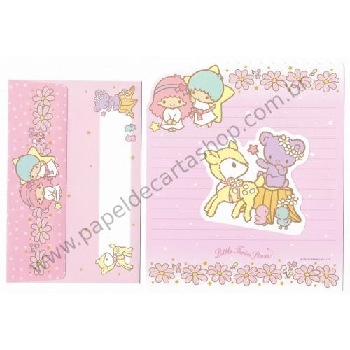 Ano 2011. Conjunto de Papel de Carta Little Twin Stars CRS Sanrio
