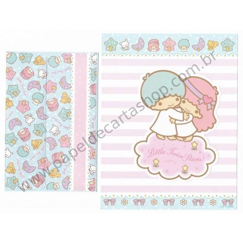 Ano 2011. Conjunto de Papel de Carta Little Twin Stars CVDA Sanrio