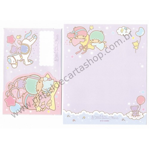 Ano 2014. Kit 2 Conjuntos de Papel de Carta Little Twin Stars RSLL Sanrio