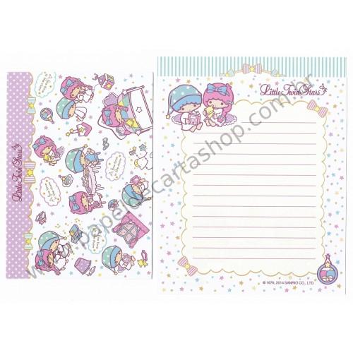 Ano 2014. Conjunto de Papel de Carta Little Twin Stars TTS2 Sanrio