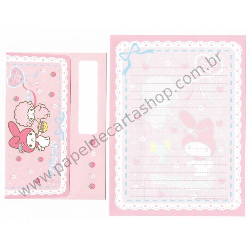 Ano 2006. Conjunto de Papel de Carta My Melody Sanrio