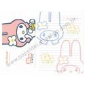 Ano 1998. Conjunto de Papel de Carta My Melody Antigo (Vintage) Sanrio