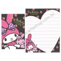 Ano 2010. Conjunto de Papel de Carta My Melody Strawberry BL Sanrio