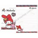 Ano 2012. Conjunto de Papel de Carta My Melody Love Sanrio