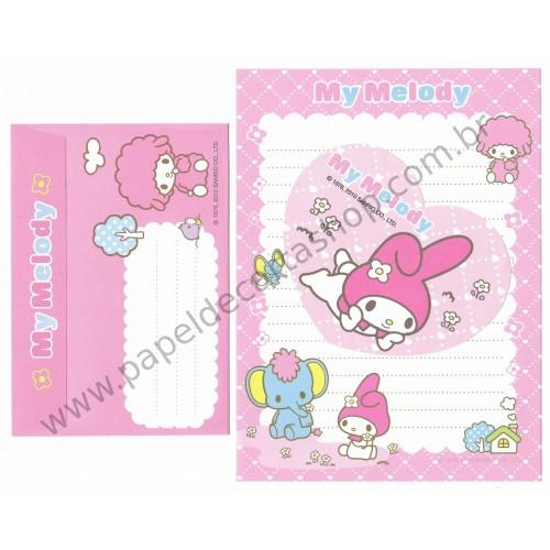 Ano 2010. Conjunto de Papel de Carta My Melody Heart Sanrio