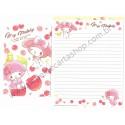 Ano 2015. Kit 2 Conjuntos de Papel de Carta My Melody Cherry Sanrio