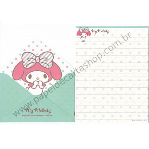 Ano 2014. Conjunto de Papel de Carta My Melody Surprises CVD Sanrio
