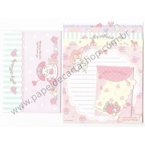 Ano 2015. Kit 2 Conjuntos de Papel de Carta My Melody Five Sanrio