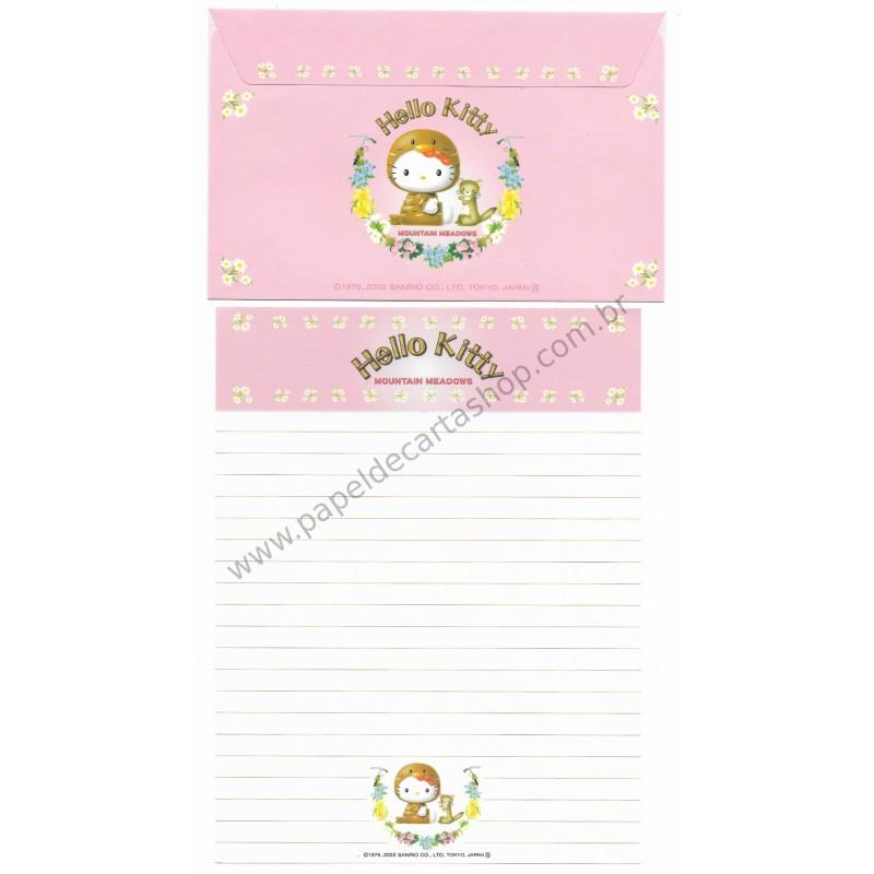 Ano 2002. Conjunto de Papel de Carta Gotōchi Kitty Mountain Meadows 03 Sanrio
