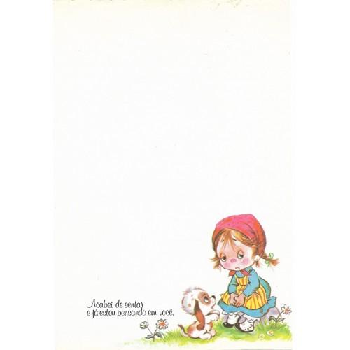 Coleção Paula L03. Papel de Carta Avulso