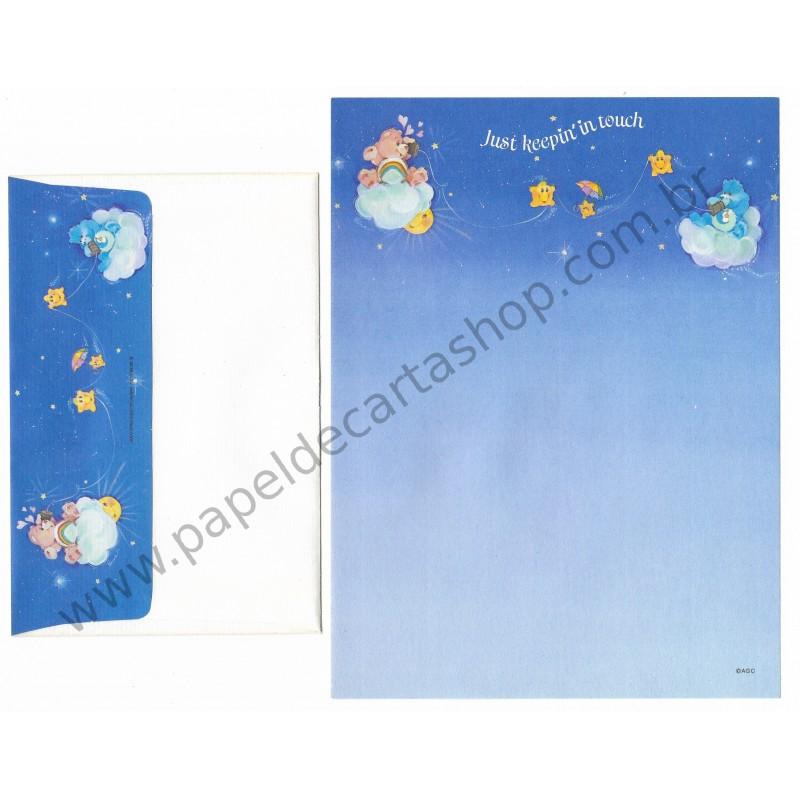 Conjunto de Papel de Carta ANTIGO Importado Ursinhos Carinhosos CAZ - American Greetings
