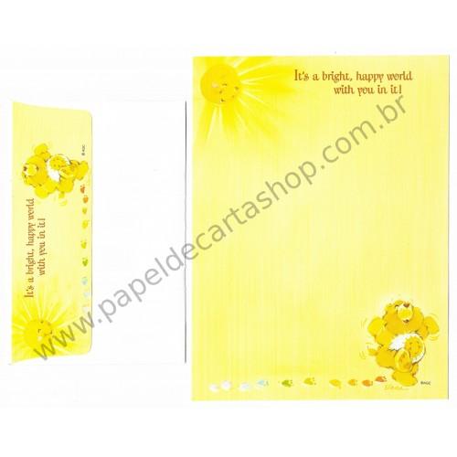 Conjunto de Papel de Carta ANTIGO Importado Ursinhos Carinhosos CAM - American Greetings