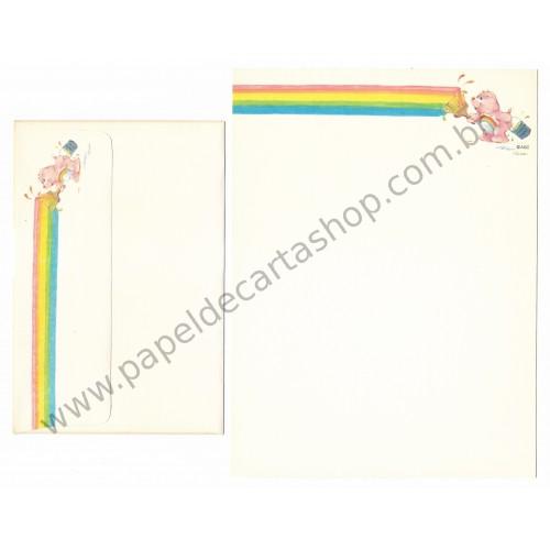 Conjunto de Papel de Carta ANTIGO Importado Ursinhos Carinhosos CBR - American Greetings