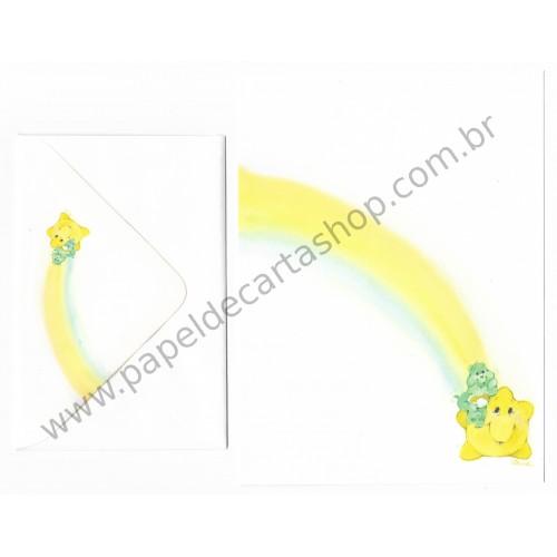 Conjunto de Papel de Carta ANTIGO Importado Ursinhos Carinhosos CBR - Carlton