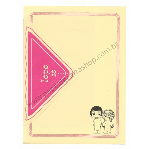 Conjunto de Papel de Carta Antigo Importado Love is... 03