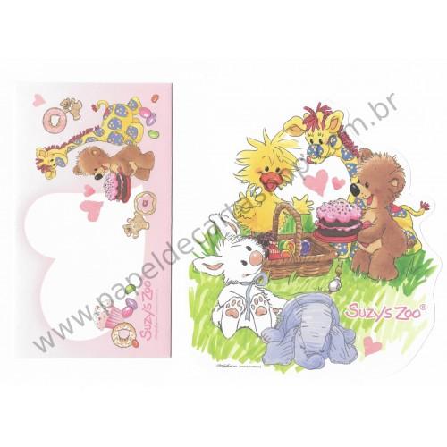 Conjunto de Papel de Carta IMPORTADO Suzy's Zoo CAM