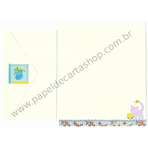 Conjunto de Papel de Carta Antigo Importado Cinhaninha Hallmark Cards