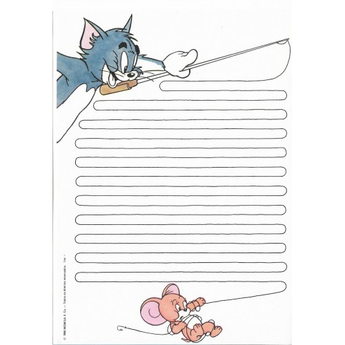 Ano 1986. Papel de Carta Antigo Tom & Jerry TJW1