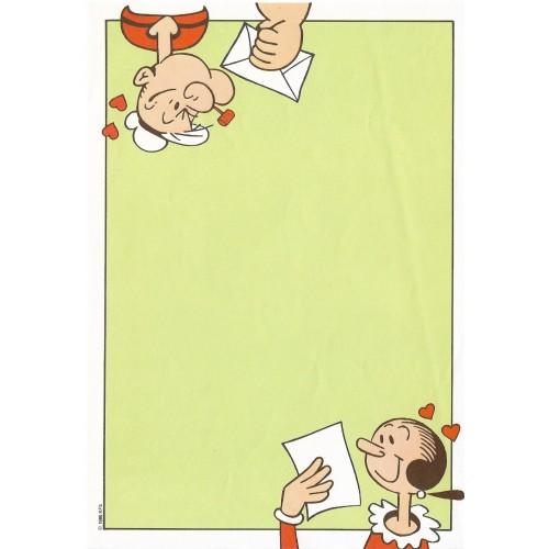 Ano 1986. Papel de Carta Antigo Popeye KFS POW3