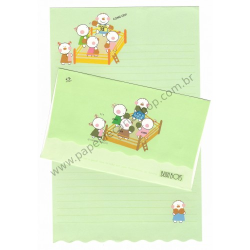Conjunto de Papel de Carta Antigo (Vintage) Bush Boys Tomboy-Kokuyo Japan