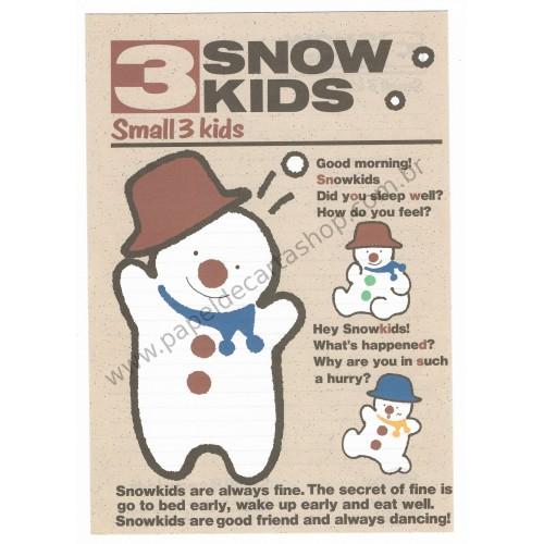 Conjunto de Papel de Carta Antigo (Vintage) 3 Snow Kids