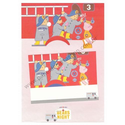 Conjunto de Papel de Carta Antigo (Vintage) Three Bears Night CVM