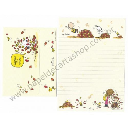 Conjunto de Papel de Carta Snoopy Autumn - Peanuts Hallmark