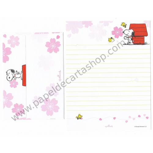 Conjunto de Papel de Carta Snoopy and his friends - Peanuts Nihon Hallmark