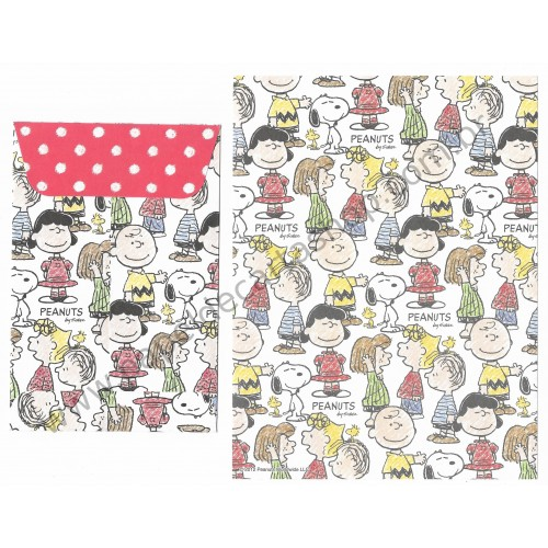 Ano 2012. Conjunto de Papel de Carta Snoopy and Friends CBR - Peanuts Delfino Japan