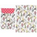 Ano 2012. Conjunto de Papel de Carta Snoopy and Friends CBR - Peanuts Delfino Japan