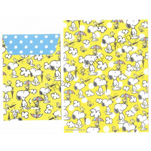 Ano 2012. Conjunto de Papel de Carta Snoopy and Friends CAM - Peanuts Delfino Japan