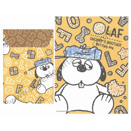 Ano 2012. Conjunto de Papel de Carta Snoopy and Olaf - Peanuts Delfino Japan